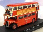 MAG JY14, ATLAS EDITIONS, LEYLAND RTW, 1957, LONDON TRANSPORT, 1:72 SCALE